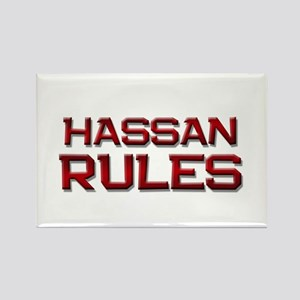 hassan rules Rectangle Magnet