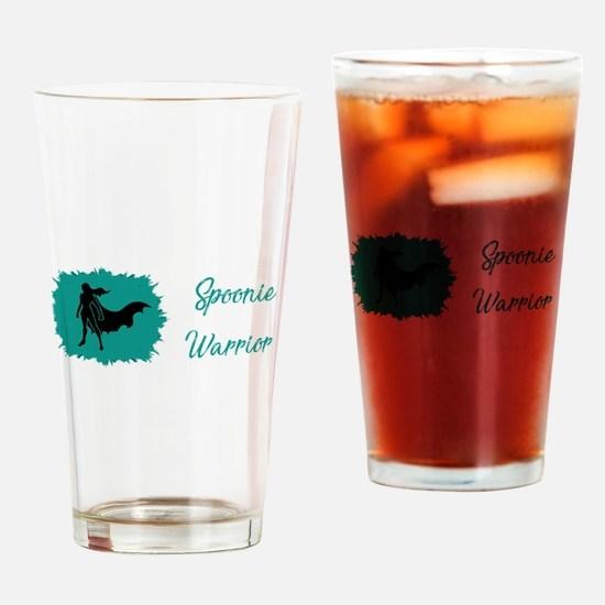 Spoonie Warrior Logo Wide Drinking Glass