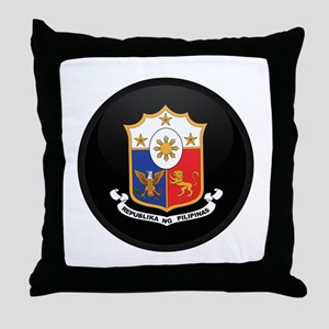 Coat of Arms of philippines Throw Pillow