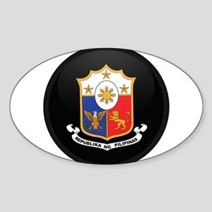 Coat of Arms of philippines Oval Sticker