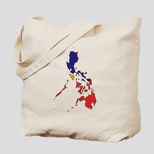 philippines Flag Map Tote Bag
