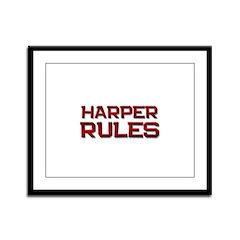 harper rules Framed Panel Print