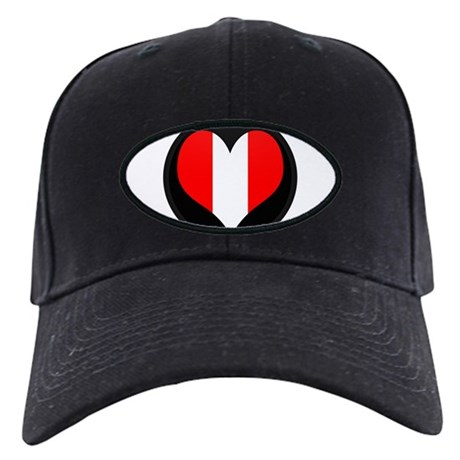 I love peru Flag Black Cap