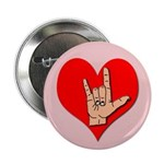ASL I Love You Button