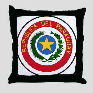 Paraguay Coat of Arms Throw Pillow