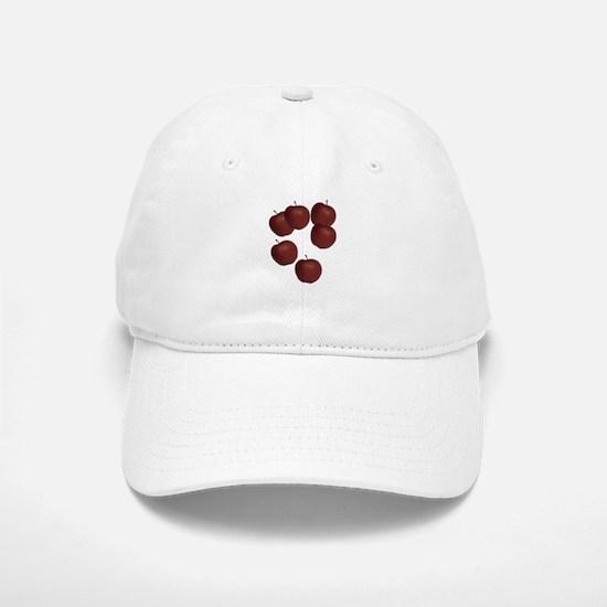 Flying Red Apple Design and Decor Baseball Baseball Cap
