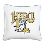 Hero-U Square Canvas Pillow