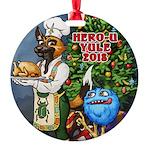 Hero-U Yule 2018 Round Ornament