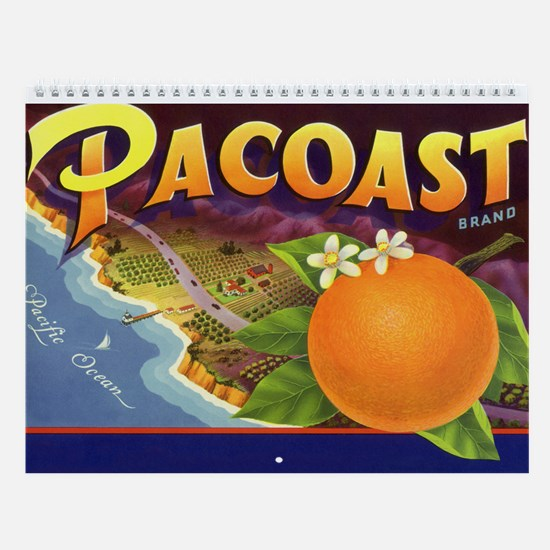Vintage Fruit Label Wall Calendar