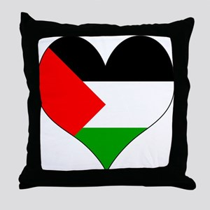 I Love Palestine Throw Pillow