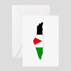 Palestine Flag Map Greeting Card