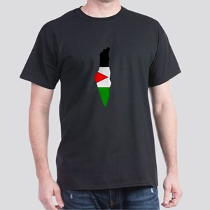 Palestine Flag Map Dark T-Shirt