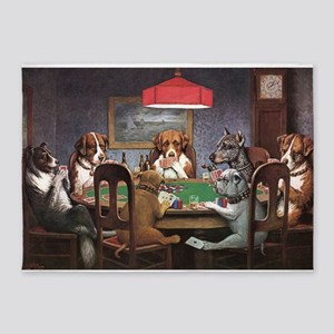A Friend In Need Dogs Playing Poker 5'x7'Area Rug