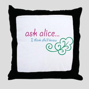 Go Ask Alice Throw Pillow
