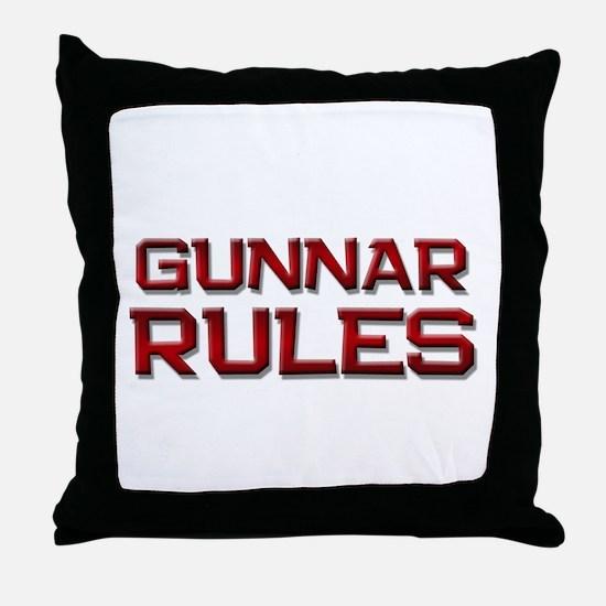 gunnar rules Throw Pillow