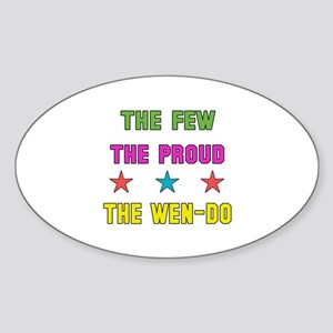 The Few The Proud Wen-Do Martial Ar Sticker (Oval)