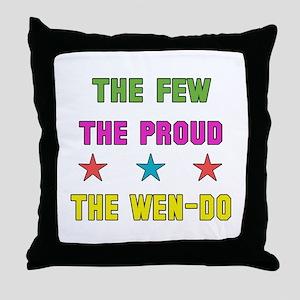 The Few The Proud Wen-Do Martial Arts Throw Pillow