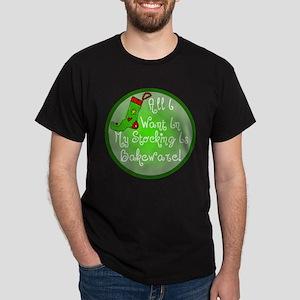 Stocking Baking Christmas Dark T-Shirt