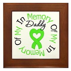 Lymphoma Memory Daddy Framed Tile