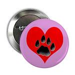 Cat Track Pawprint & Heart Button