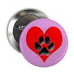 Dog Track Pawprint & Heart 2.25