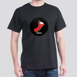 Flag Map of Oman Dark T-Shirt