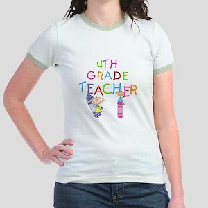 Crayons 4th Grade Jr. Ringer T-Shirt