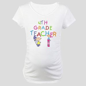 Crayons 4th Grade Maternity T-Shirt