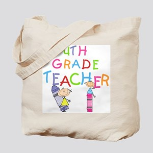Crayons 4th Grade Tote Bag