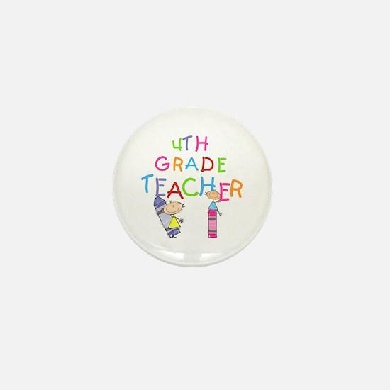 Crayons 4th Grade Mini Button