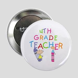 """Crayons 4th Grade 2.25"""" Button"""