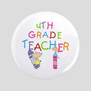 """Crayons 4th Grade 3.5"""" Button"""