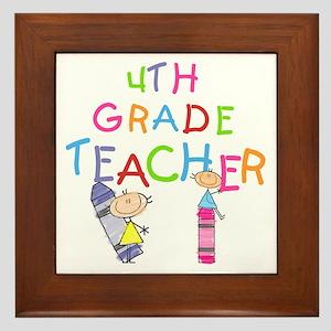 Crayons 4th Grade Framed Tile