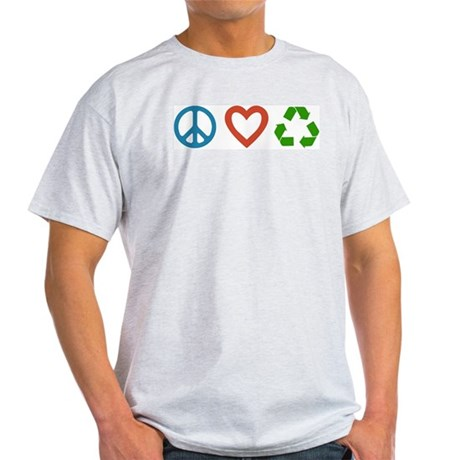 Peace Love Recycle T-Shirt - 3 Colors