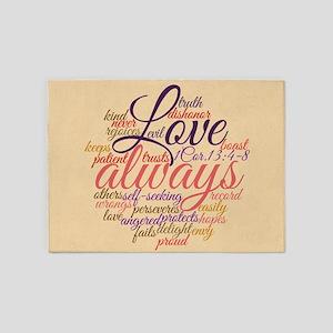 Christian Love Never Fails 1 Cor. 13:1-8 5'x7'Area