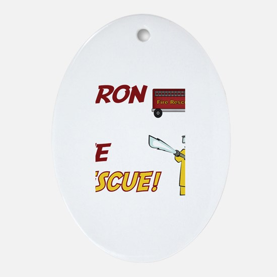 Aaron to the Rescue Oval Ornament
