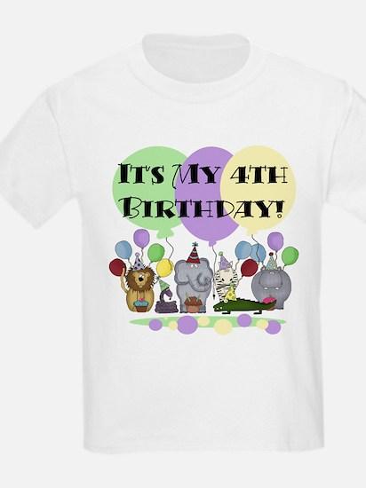 Zoo 4th Birthday T-Shirt