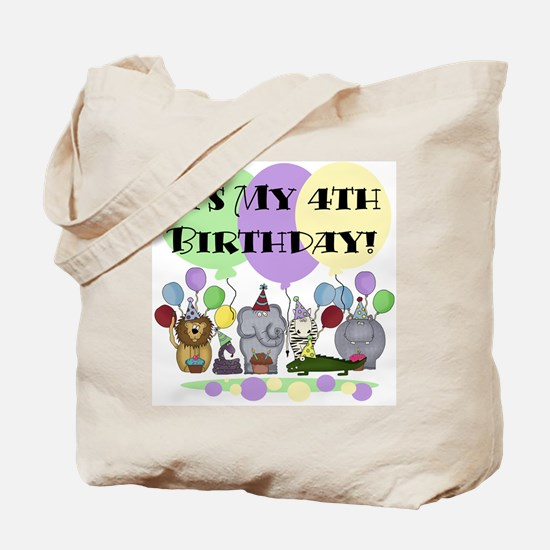 Zoo 4th Birthday Tote Bag