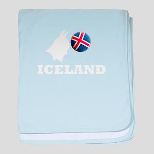 ICELAND Soccer 2018 Icelandic baby blanket