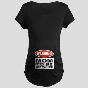 Mom To Be Twins Maternity Dark T-Shirt