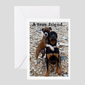 Rocky's Hug Friendship Card