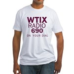 WTIX New Orleans 1968 -  Fitted T-Shirt