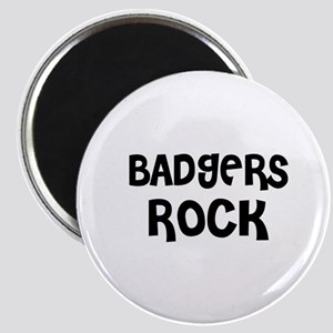 BADGERS ROCK Magnet