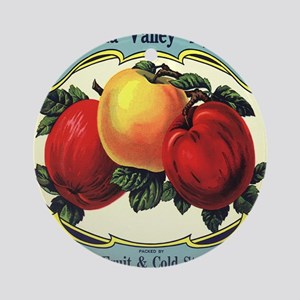 Vintage Fruit Crate Label Ornament (Round)