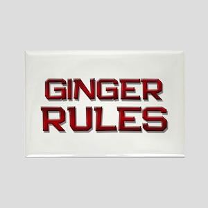 ginger rules Rectangle Magnet