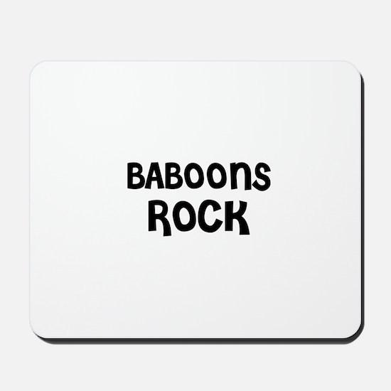 BABOONS ROCK Mousepad