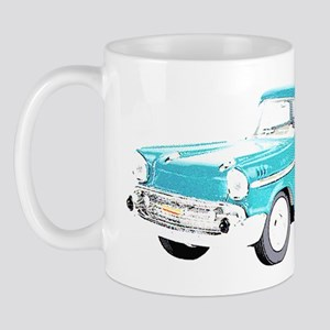 Blue Cars Pop Art Ceramic Coffee Mug