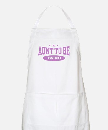 Aunt To Be Twins BBQ Apron