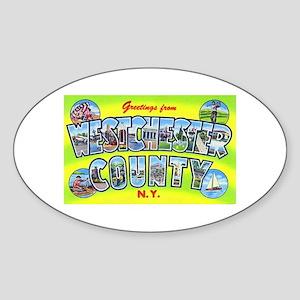 Westchester County New York Oval Sticker