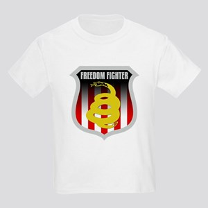 Freedom Fighter Shield Kids Light T-Shirt